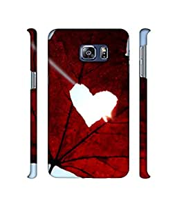 Casotec Maple Heart Leaf Design 3D Printed Hard Back Case Cover for Samsung Galaxy S6 edge Plus