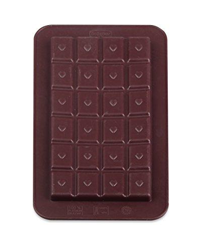 """Dr. Oetker Silikon-Schokoladenform \""""Süße Tafeln\"""" 2er Set, Formen aus hochwertigem Platinsilikon, Schokolade selbst machen - für individuelle Köstlichkeiten, (Farbe: braun), Menge: 1 Stück"""