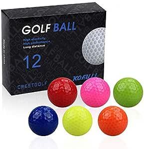 Kofull 12 palline da golf colorate per allenamento golf