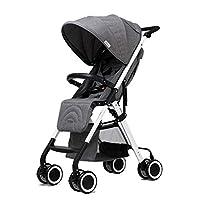 Xiao ping Stroller high landscape light umbrella folding baby stroller sitting reclining ( Color : Gray )
