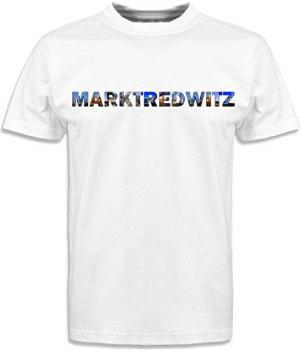 T-Shirt mit Städtenamen Marktredwitz Weiß