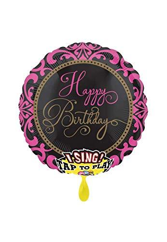 Party Factory Musikballon - Ø 71cm - Happy Birthday Glamour