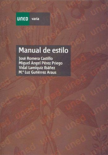 Manual de Estilo (VARIA) por José ROMERA CASTILLO