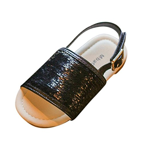 Sandals Kids,Ba Zha  Summer Toddler Kids Baby Girls Sequins Beach Sandals Princess Roman Single Shoes Sneakers Sandals Newborn Soft Sole Shoes Patchwork Flats Slip-On Solid Shoes 0-6 Years Old