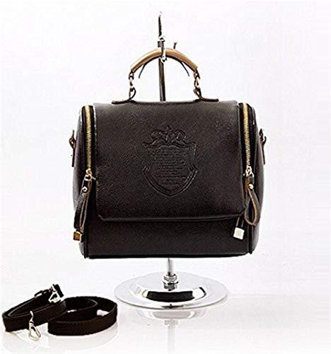 Einfacher Retro-Stil Frauen Retro Handtasche Britische Umhängetasche Kunstleder Einkaufstasche Mode Satchel Messenger Vintage Umhängetasche Aktentasche Verstellbarer abnehmbarer Gurt Geeignet zum Eink - Zeigen Satchel Bag