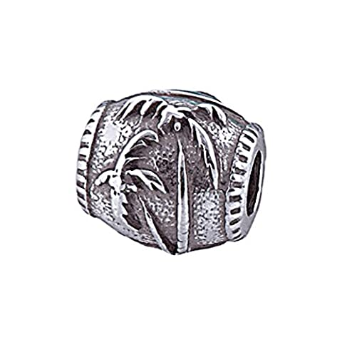 Zable Sterling Silver Palm Tree Bead