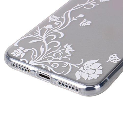 iPhone X Tasche, iPhone X Tasche Silikon, iPhone 10 Tasche Silikon, Moon mood® Gemalt Entlastung Relief Design Silikon Hülle für Apple iPhone 10 X 5.8 Zoll Thin Dünn Weich TPU Schutz Etui Cover, Flexi Muster 17