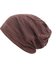 Slouch Beanie Cap Skull para Hombre o Mujer Invierno de Punto Holgado Grueso  Unisex cálido Forrado Invierno Gorra… 3430c77c30e