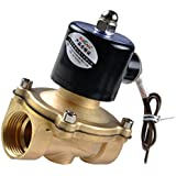 Segolike AC220V Brass Electric Solenoid Valve For Water Air Oil Fuels Normally Closed 1/2,3/4,1,1-1/4'' - as described, 1''