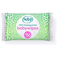 Mum & You 100% Biodegradable Baby Wet Wipes, Pack of 12, (672 Wipes in Total). 98% Water, 0% Plastic, Hypoallergenic & Dermatologically Tested.
