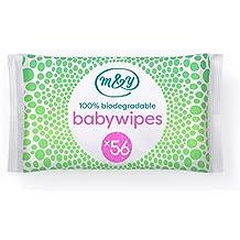 Mum & You Toallitas Húmedas Para Bebés 100% Biodegradables, Paquete De 12, (
