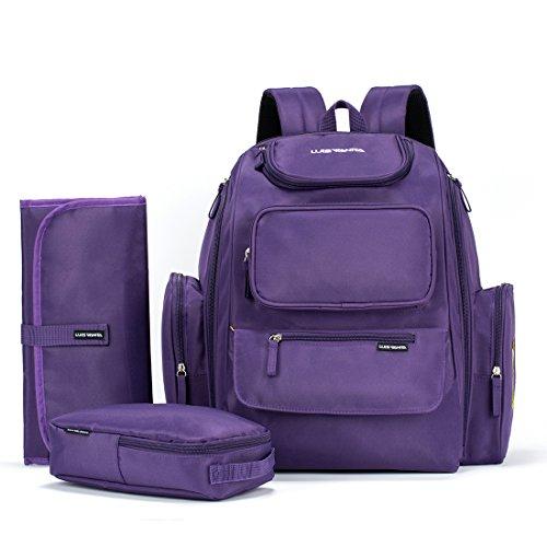 Preisvergleich Produktbild VBag Wickeltasche Rucksack w/kinderwagenhalter und Wickelunterlage und Tasche Outdoor (lila)