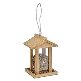 Bambelaa!. Mangiatoia per Uccelli mangiatoia per Uccelli, in Legno Massiccio Hanger (ca. 14.5x 14.5x 22cm), Confezione da 1