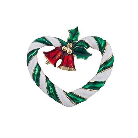 Lux Accessoires de vacances de Noël Couronne de Noël Église Bells Holly Broche