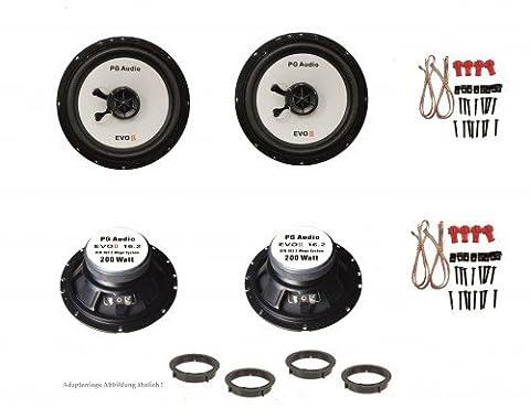 SEAT IBIZA 2002–2008, Seat Leon 2005–2008, haut-parleurs, porte avant et arrière, Pg Audio