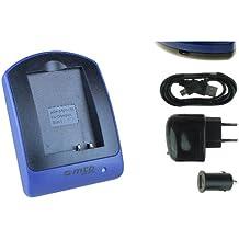 Caricabatteria (USB/Auto/Corrente) per BLN-1 / Olympus PEN E-P5 / OM-D E-M1, E-M5, EM-5 Mark II / PEN-F