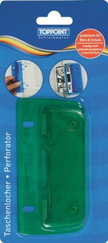 Taschenlocher Mini Locher mit Linealfunktion grün