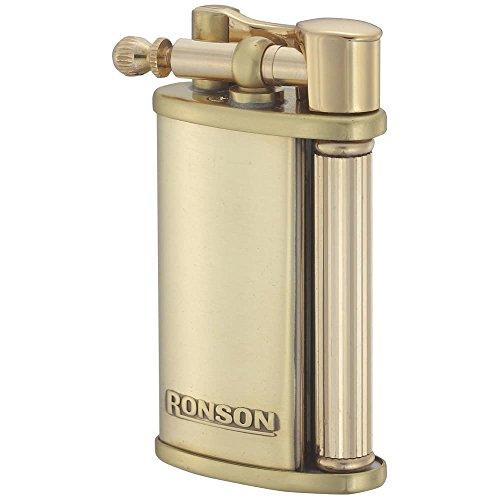 Ronson Vestige latón suave llama Gas Flint encendedor