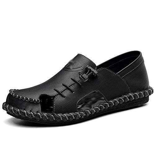 Casual Suede Shoe Breathable Lace Casual Slippers Herrenschuhe Vietnamese Beach Herren Sandalen Herren Sneaker (Farbe : Schwarz, Size : 40) Lace Oxford Cap