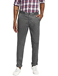 RUF & TUF Solid Grey Coloured Cotton Blend Trouser