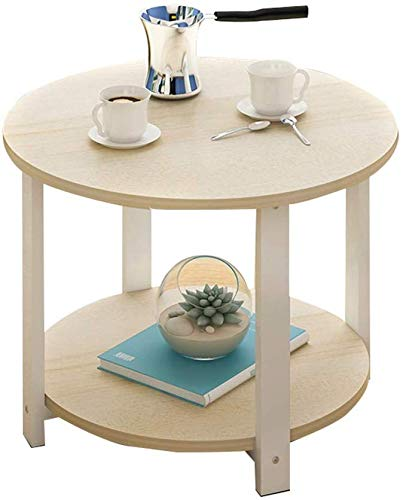 QTQZDD Montar la Mesa de té. Mesa de Centro de Doble Capa Simple ...