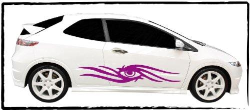 DD Dotzler Design - 1005_24 - Autodekor Car Tattoo Aufkleber Auto Set 1x linke 1x rechte Seite eye catcher augapfel blickfang style Tribal