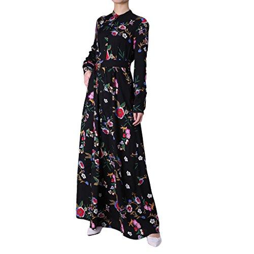 Ingsist Hijab Fashion Muslim Brautkleid, L