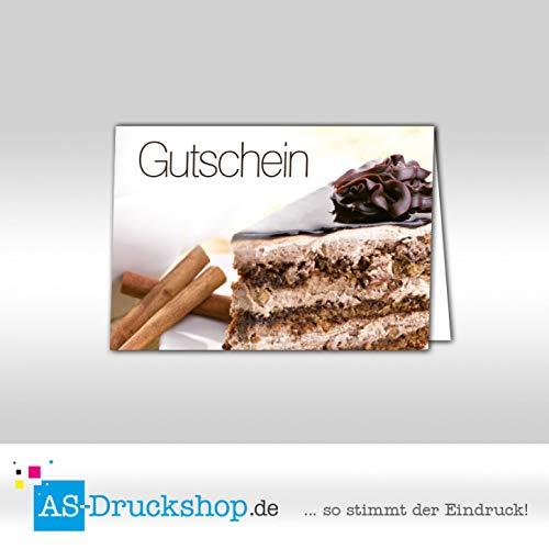 Gutschein Bäckerei Cappuccino-Torte / 50 Stück/DIN A6