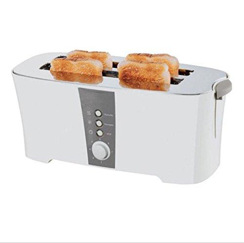 Große Elektro-röster (Happybeauty 2 scheiben4 Slice Toaster mit Cancel / Defrost / Reheat Funktion, 1300W, extra Wide Slots und Custom Toasting Einstellungen , A)