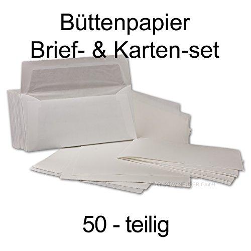 Carta Juego + tarjetas auténtica piel Papel verjurado//50piezas//DIN
