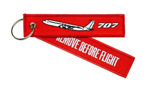 quitar-antes-de-vuelo-boeing-707-alta-calidad-equipaje-llavero-etiqueta-incl-llavero-cromado