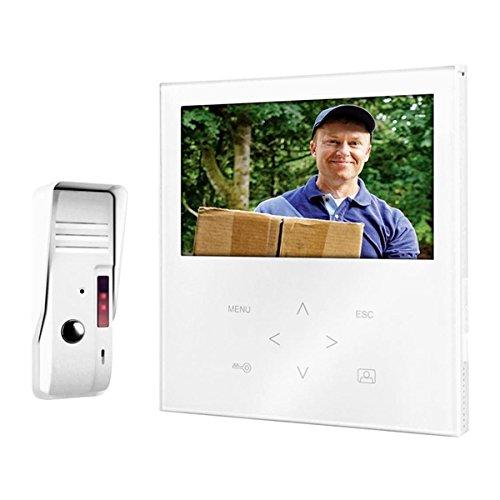 Campanello con videocitofono via cavo smartwares vd71sw (1000043792)