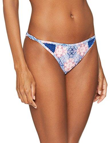 O'Neill Damen Crochette Insert Bottom Bademode Bikini, White Aop W/ Blue, 36 (Badeanzug Bikini Oneill Bottom)