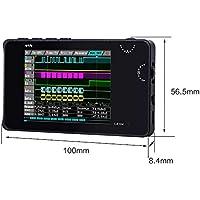 """CampHiking Digtial - Analizador lógico LA104 USB Mini 4 Canales 100 MHz MAX Muestra Tasa Construido en 8 MB de Almacenamiento de Flash 2,8"""" Osciloscopio con línea Dupont, Gancho de sonda"""