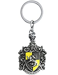 Techpro Metal Keychain Silver Colour Harrypotter Hufflepuff Design
