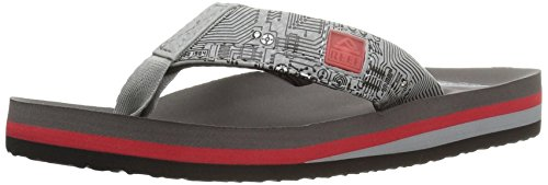 Reef Jungen AHI Light up Sandalen, Mehrfarbig (Red/Grey), 28/29 EU