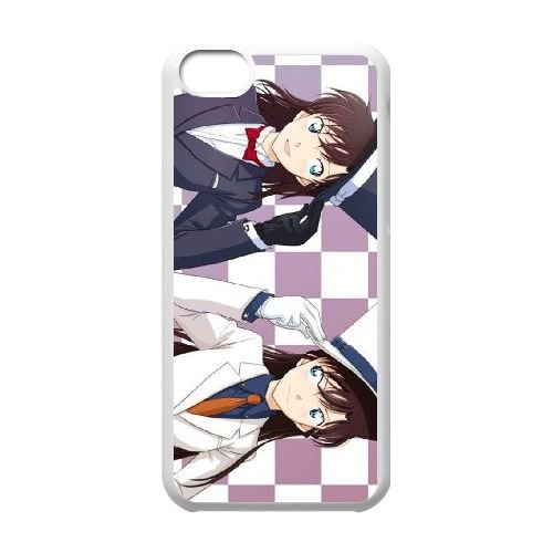 Detective Conan coque iPhone 5C Housse Blanc téléphone portable couverture de cas coque EBDXJKNBO09976