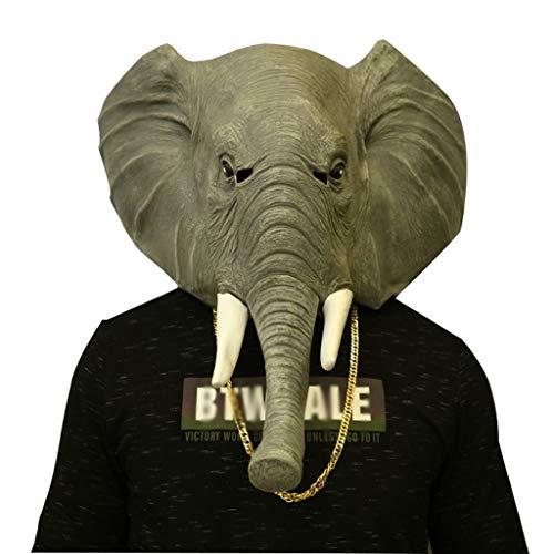 SYTPZ SMQ Elefante Máscara Halloween Adulto Animal Cabeza Cubierta Cos Cosplay Accesorios de Vestuario
