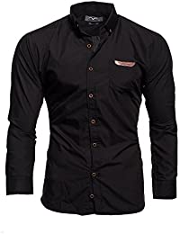 KAYHAN Homme Chemise Slim Fit Repassage facile, Manches Longues Modell Arizona