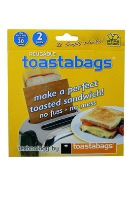 41oKJeXDA1L - BEST BUY #1 REUSABLE TOASTABAGS sandwich toaster toastie bags toast Reviews and price compare uk