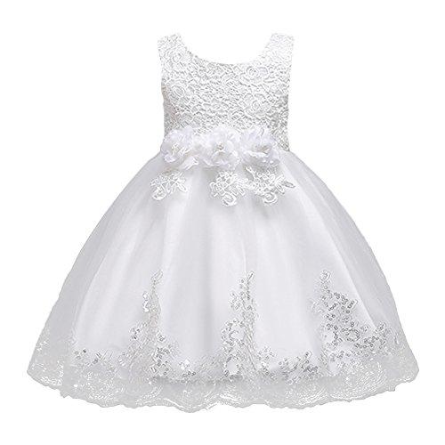 FYMNSI Kinder Baby Mädchen Blumen Tutu Kleid Geburtstag Partykleid Hochzeit Brauntjungfer...