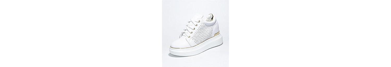 KPHY Hollow Alta Interior Zapatos De Mujer Verano Salvaje Muffin Fondo Grueso Transpirable Ocio Zapatos Cuarenta... -