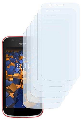 mumbi Schutzfolie kompatibel mit Nokia 1 Folie klar, Displayschutzfolie (6x)