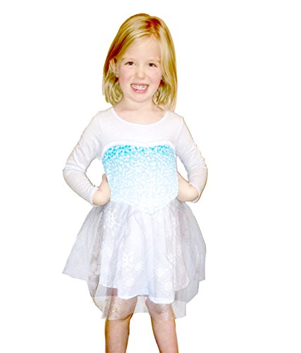 Frozen I Am Elsa Mädchens Long Sleeve Glitter Blau Dress (Toddler 6T) (Frozen Toddler Elsa Kostüm)