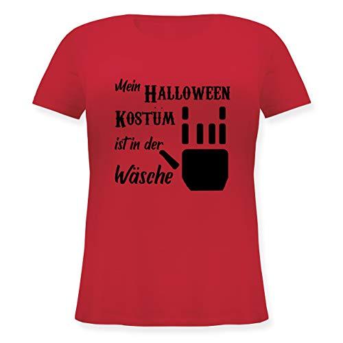Halloween - Mein Kostüm ist in der Wäsche Schwarz - S (44) - Rot - JHK601 - Lockeres Damen-Shirt in großen Größen mit (Schmutzige Frauen Kostüm)