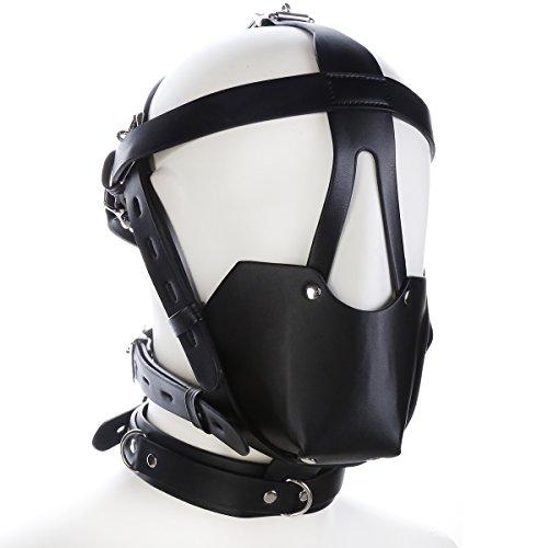 Kostüm Head Horse Black - ShineBlue Black Horse Leder Bondage Gimp Maske mit Kugelknebel 27