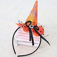 Decoraciones de Halloween Cabeza de bruja de Navidad Hebilla Accesorios de Halloween Sombrero de bruja de colores Diadema Moda Disfraces de Halloween Vestir Accesorios para la fiesta Decoración de Halloween