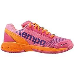 Kempa Attack Junior, Zapatillas de Balonmano para Niñas, Rosa (Rose/Carotte), 35 EU
