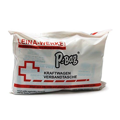 Leina-Werke 11300 KFZ-Verbandtasche P-Bag Compact, Weiß/Schwarz/Rot