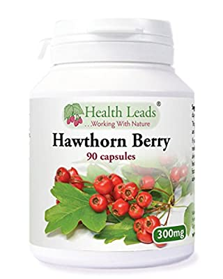 Hawthorn Berry 300mg x 90 capsules (100% Additive Free Supplements) from Health Leads UK